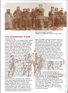 Christmas Truce Harpenden Now