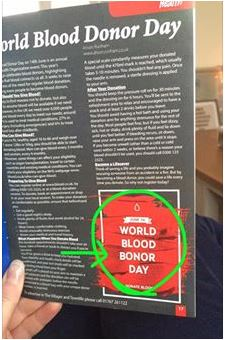 World Blood Donor Day Blooper